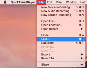 Save recording button