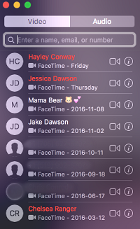 FaceTime screen