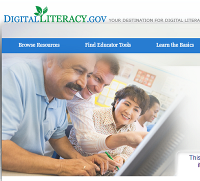 DigitalLiteracy.gov homepage