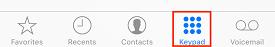 Open calling keypad