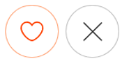Match with or reject other users button