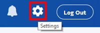 PayPal settings icon