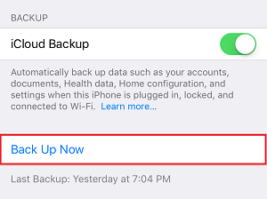 Enable backup switch