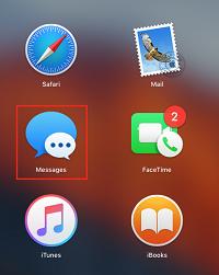 Open Messages app on Mac