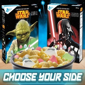 Star Wars cereal box