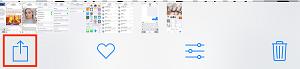 Tap option icon