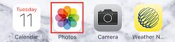 Open photos app