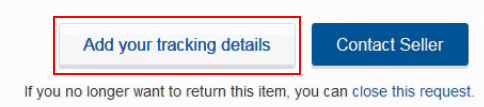 How to upload return tracking information manually