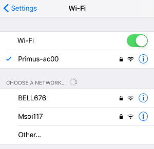 Connect to Wi-Fi on an iPhone
