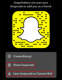 Share or save Snapcode