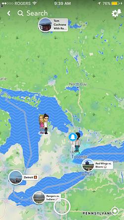 Snapchat map open