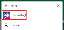 Smule Sing app in Android Store