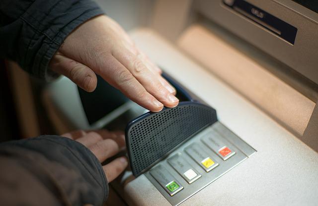 ATM PIN input