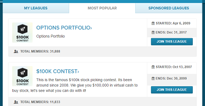 Stock competition leagues