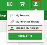 Angies List account settings
