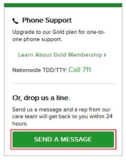 Send a Message button