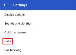 Change the call settings