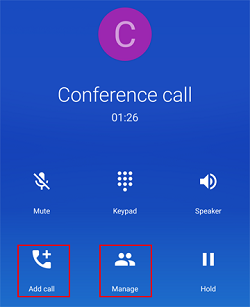 Add or manage callers on conference call