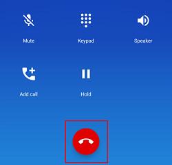 End Call button