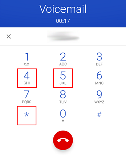 Android voicemail screen - more options