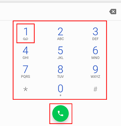 Dial voicemail number