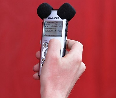 Portable sound recording device