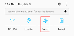 Android audio playback controls