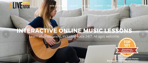 Live Music Tutor homepage