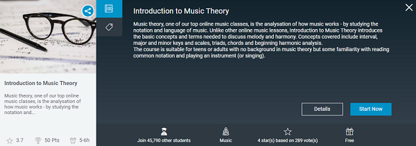 Alison music theory course