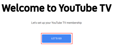 Lets Go sign up button