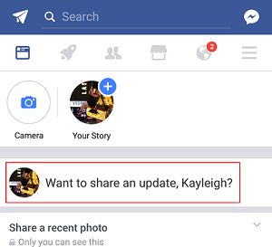 New Facebook status