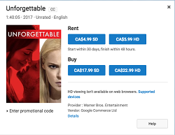 Cost to rent movie from YouTube