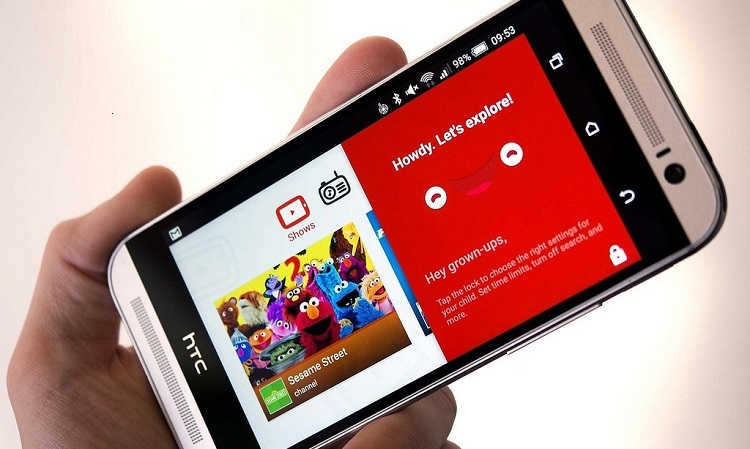 YouTube on smart phone