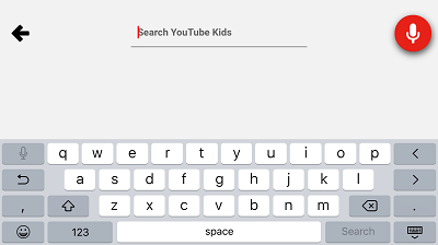 Search YouTube KIDS app