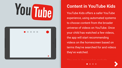 Content on YouTube KIDS app