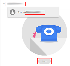 Making a call with Google Voice