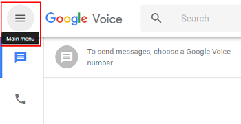 Google Voice main menu