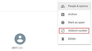 Unblock Google Voice number