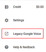 Google Voice Legacy option