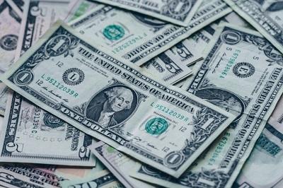 Dollar bills on a table