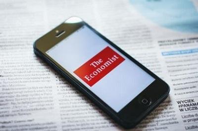 The Economist app on a smart phone