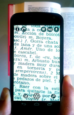 Smart phone magnifying text