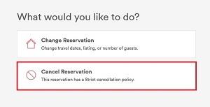 Cancel Reservation button