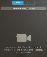 FaceTime app screen