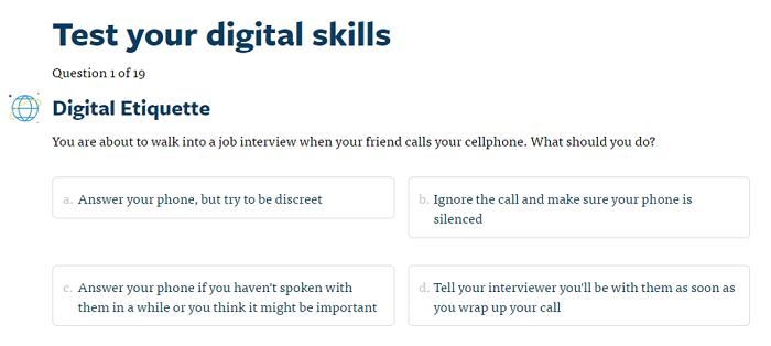 Future Edge digital literacy test