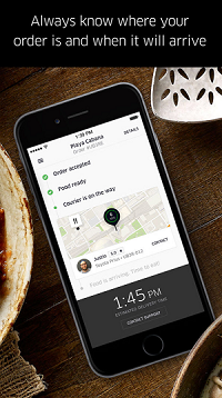 Uber Eats order trackers