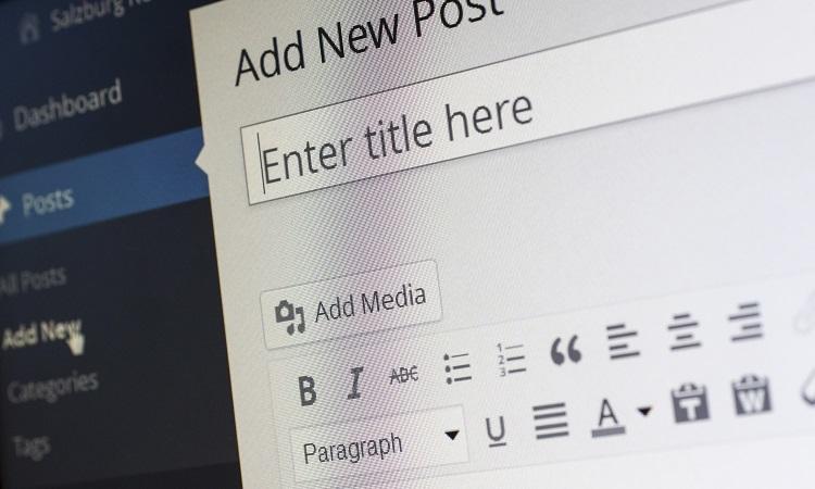 WordPress new blog entry