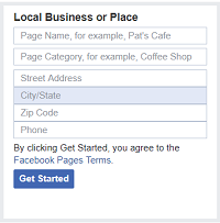 Enter information about your business