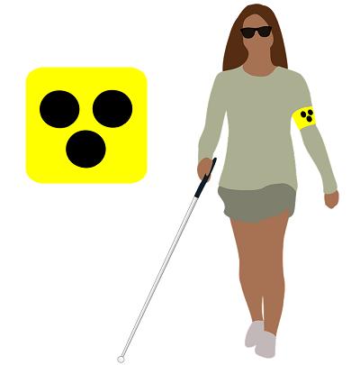 Visual impairment symbol