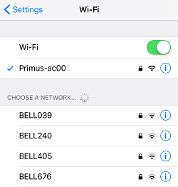 Connect to Wi-Fi on device